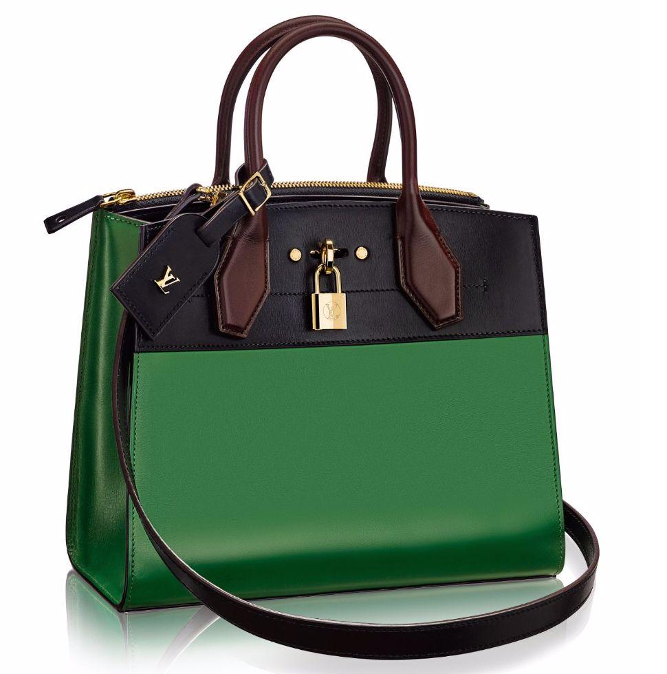 f9df6d997ba Introducing the Louis Vuitton City Steamer Bag | green bags in 2019 ...