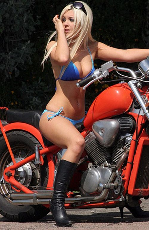 Hot blonde biker girls naked