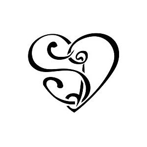 S D Heart Tattoo Polyvore Tattoo Lettering Fonts Letter S