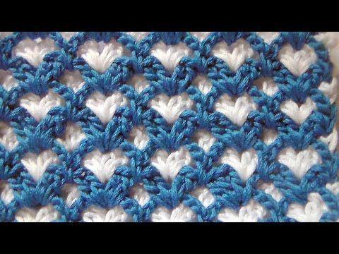Punto Crochet All Uncinetto.Punto Ventagli Bicolore All Uncinetto Tutorial Youtube