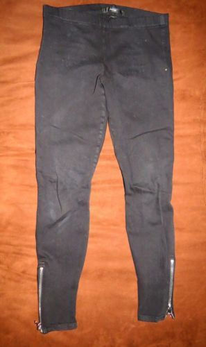 Joe's Jeans Stretch Black Jegging with Silver Zipper, Sz Small, ONLY $27.99 with Fast & FREE Shipping | eBay