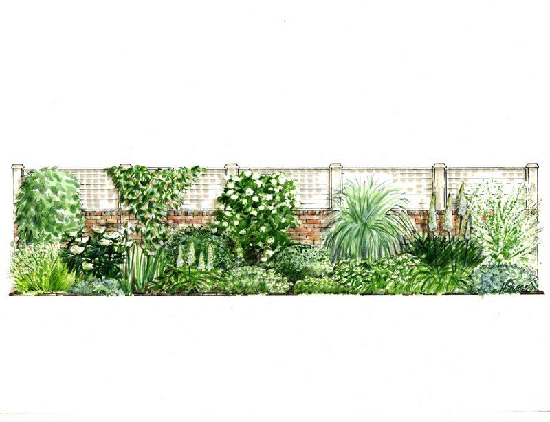 A series of planting elevations for the 'Garden on a Roll ...