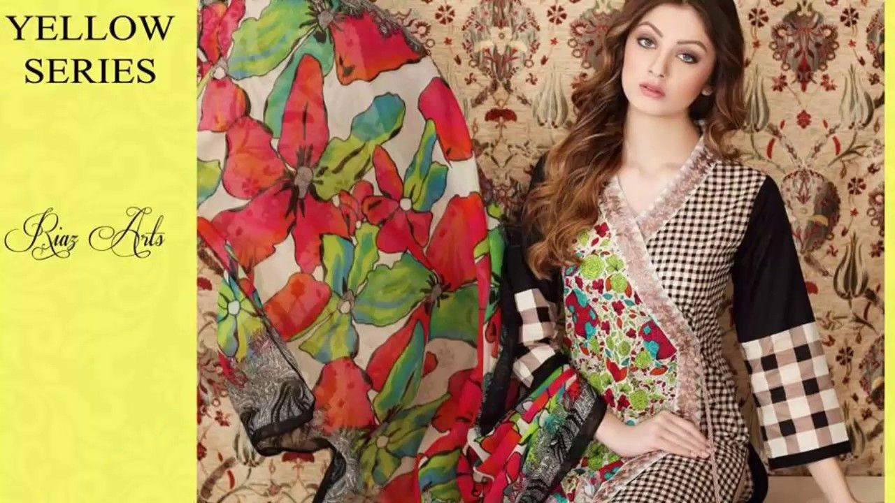 Warda spring summer collection 2016 vol 1 with prices beststylo com - Riaz Arts Vol 1 Spring Summer Yellow Series Collection 2017