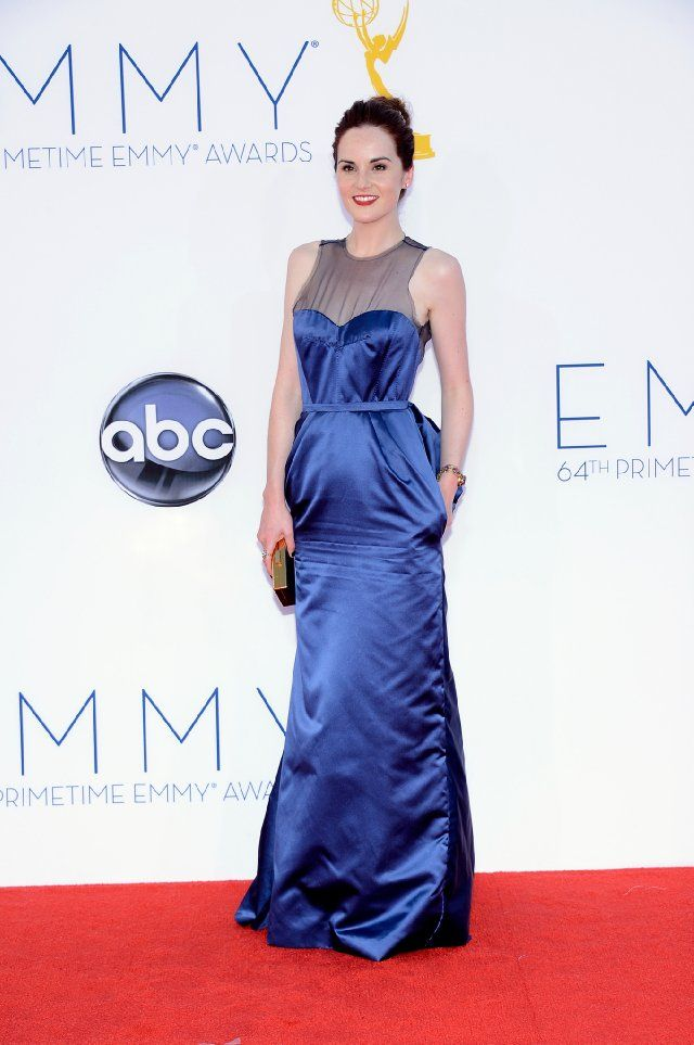 Michelle Dockery of Downton Abbey at the 2012 Emmy Awards