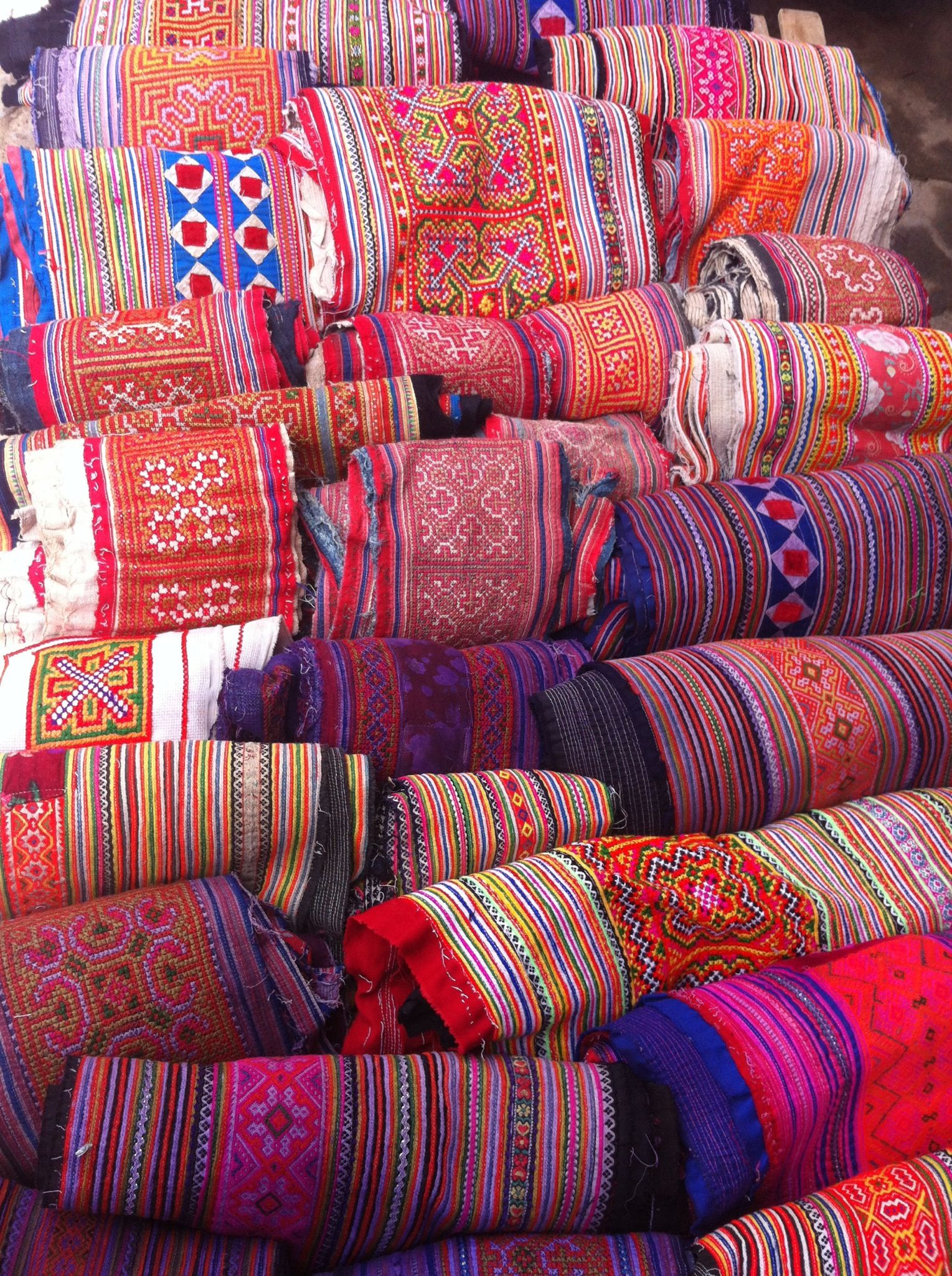 Traditional fabric from north Vietnam | Traditional fabric from all ...