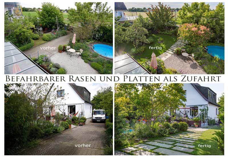 Gartenplanung, Gartendesign Und Gartengestaltung: Befahrbarer ... Kreative Gartendesigns Rasen