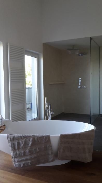 Wasserdichter Putz Dusche beton cire fugenlose badgestaltung rhein neckar gebiet