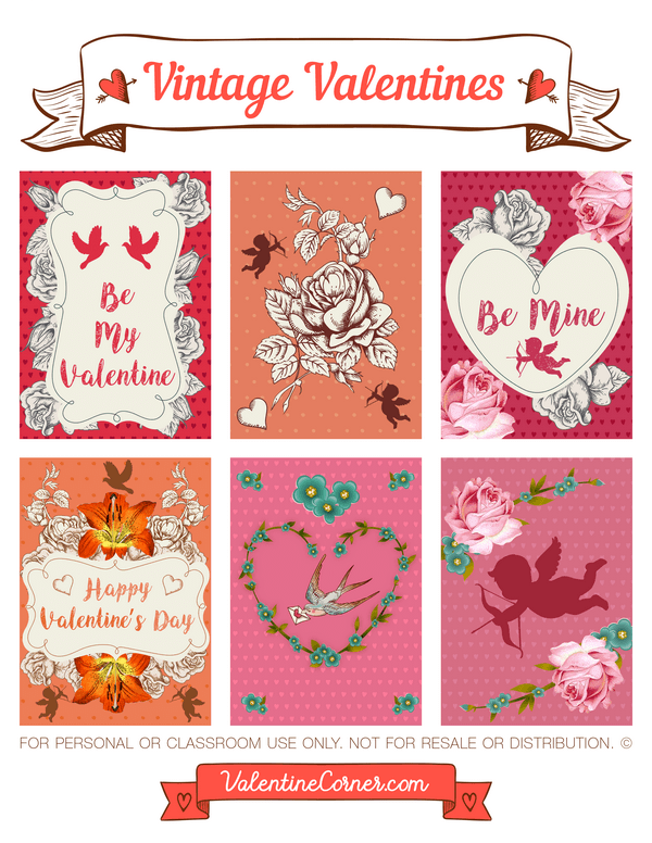 photo relating to Free Printable Vintage Valentine Cards identify Pin by way of Muse Printables upon Valentines Working day Printables at