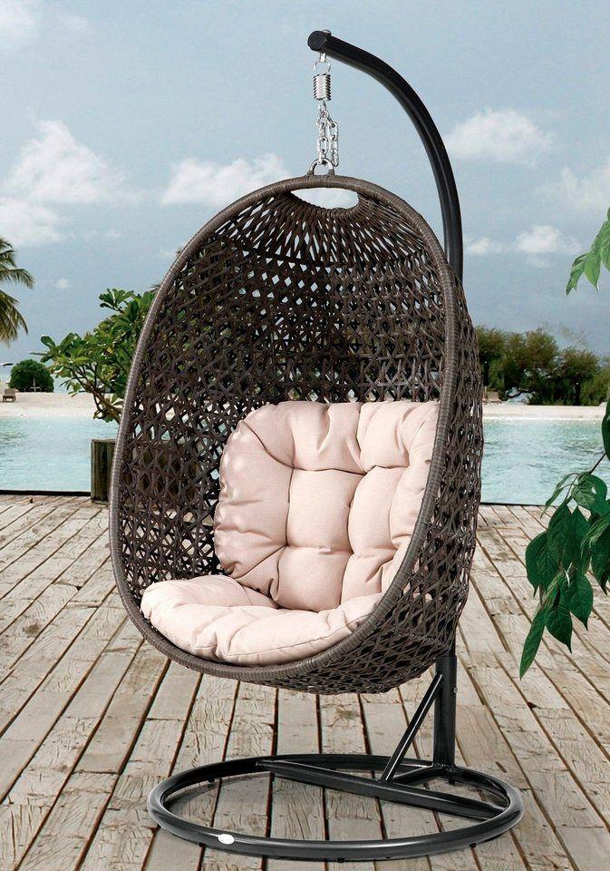 Hangesessel Cocoon Korbsessel Gartenstuhl Metall Sessel