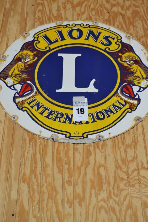 "Lions Club International Round Sign - 30"" Diameter - http://comasmontgomery.com/index.php?ap=1&pid=40645"
