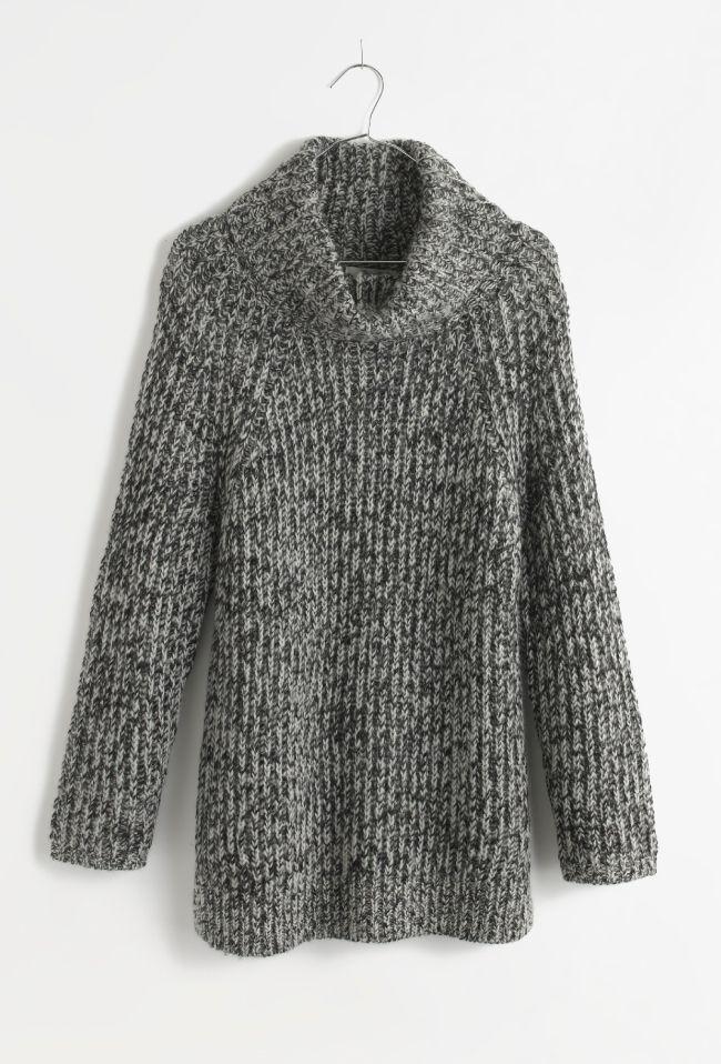 Madewell marled funnelneck sweater.