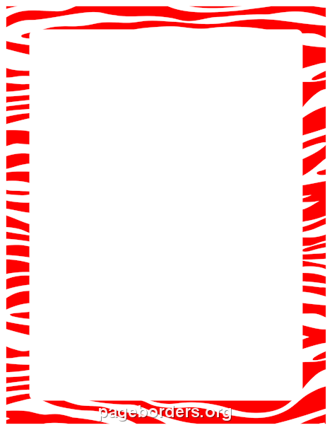 printable red zebra print border use the border in microsoft word