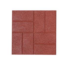 Rubberific Red Rubber Square Patio Stone Common 16 In X