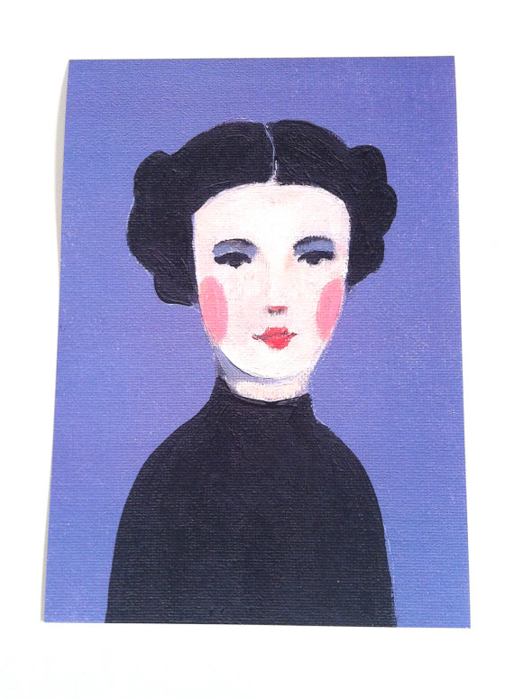 Arte foto di signora-vintage d'epoca Betty  donna di tushtush