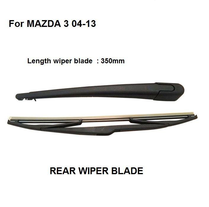 Rear Windshield Window Wiper Arm U0026 Blade For Mazda 3 Hatchback 2004 2013  Set #