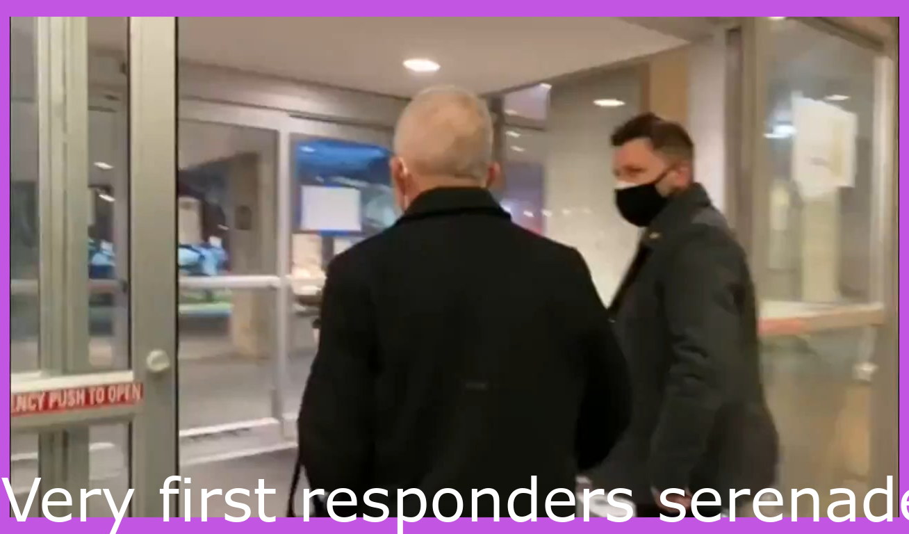 Funny Videos Amp Memes Very First Responders Serenade Dr Fauci As He Leaves Perform On Funny Gif Funny Video Memes Single Humor