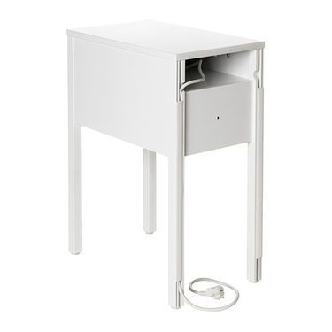 Ikea Nordli Bedside Table On The Hidden Shelf Is Room For An Extension Socket Your Chargers