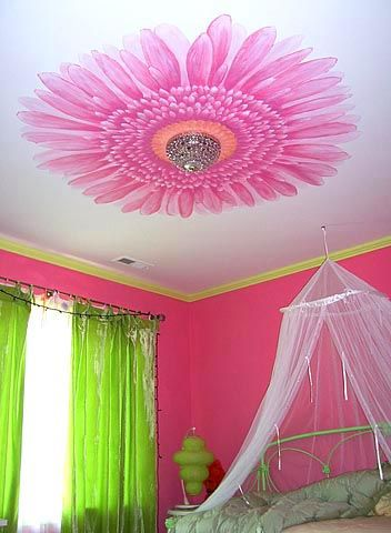 Ceiling Flower I D Love This As My Bedroom For The