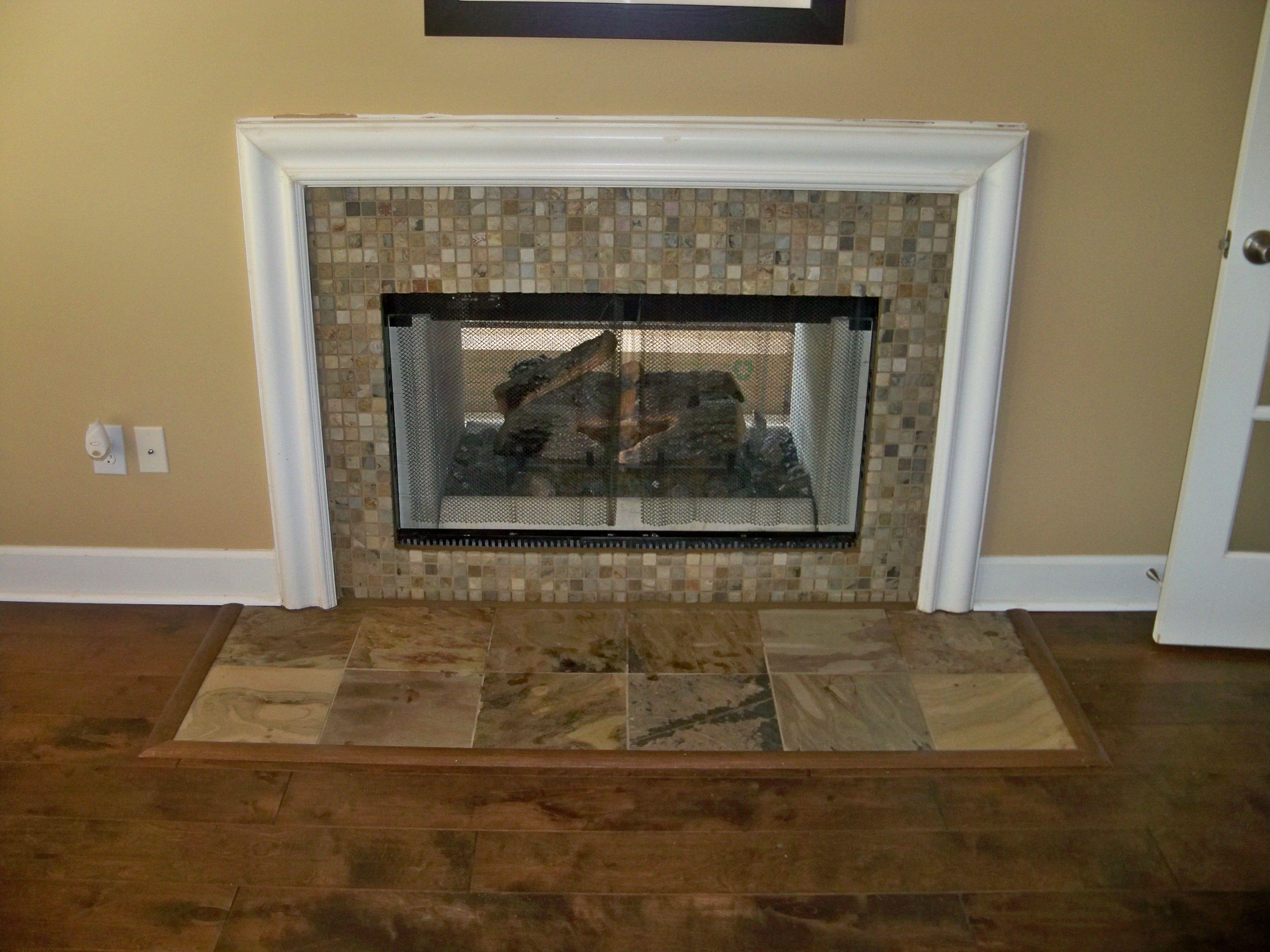 1x1 slate mosaic u0026 12x12 slate tile ga fireplaces