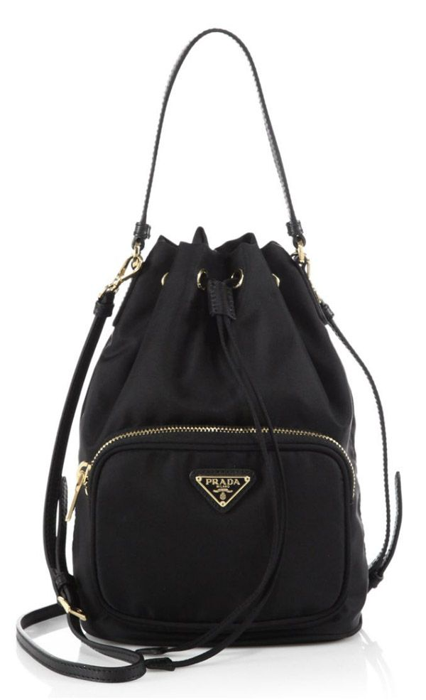 Prada Tess Drawstring Nylon Bag Handbag Worth Purchasing
