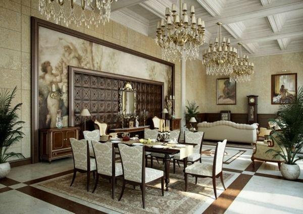 Barock Stil Wohnzimmer-Kristallkronleuchter Wohnideen Pinterest
