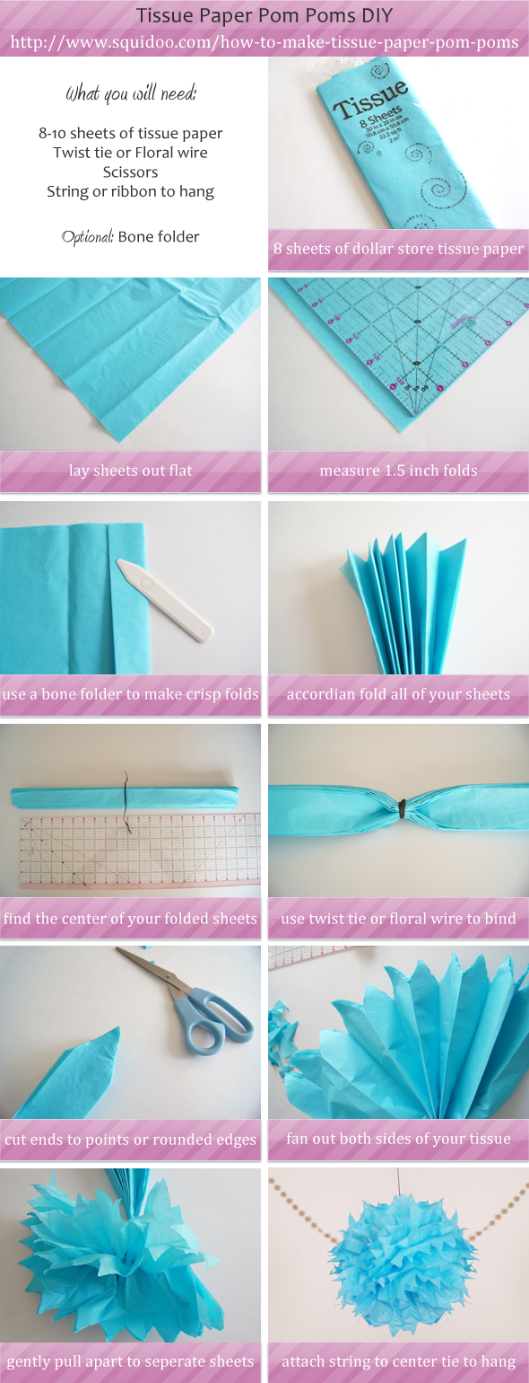 How To Make Tissue Paper Pom Pom Step By Step Diy Go To Www