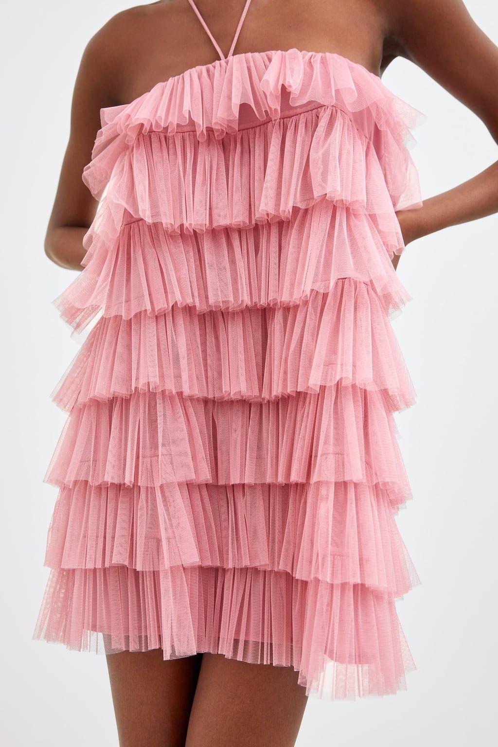 limited edition ruffled tulle dress | tulle, vestiti, volant