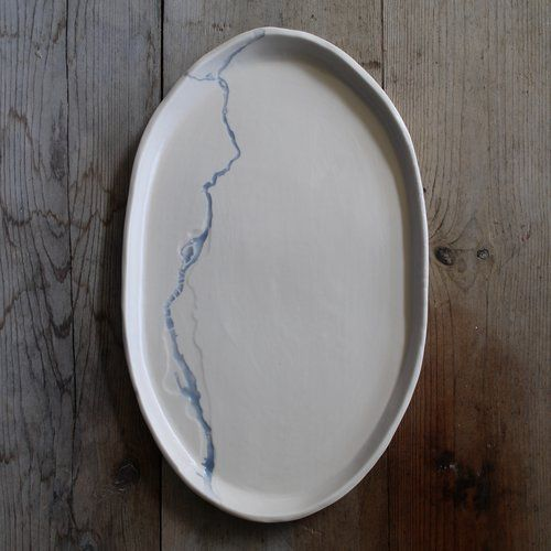 Portland Serving Platter: Portland's Willamette River & It's Floodplain Mapped In A