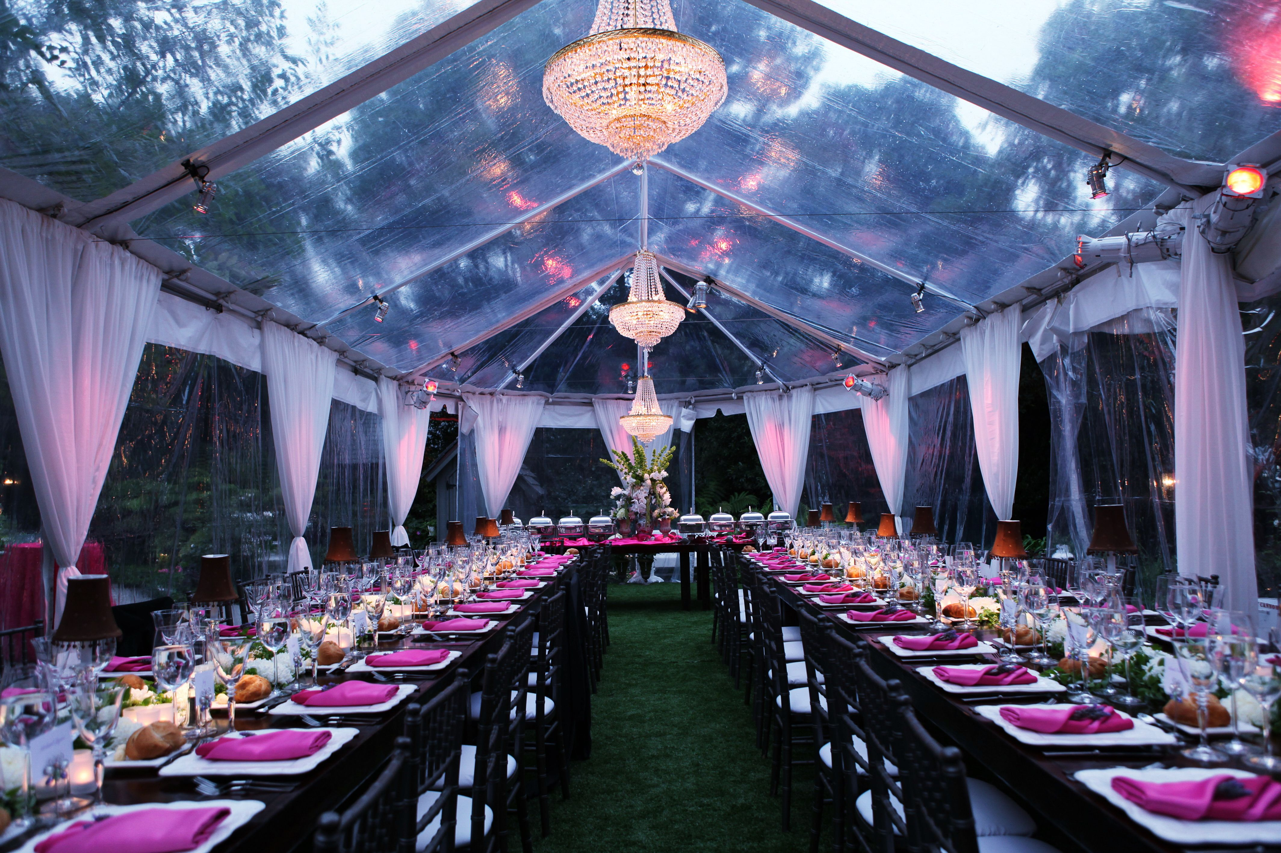 Clear Frame Tent - Interior View | Town & Country Event ...