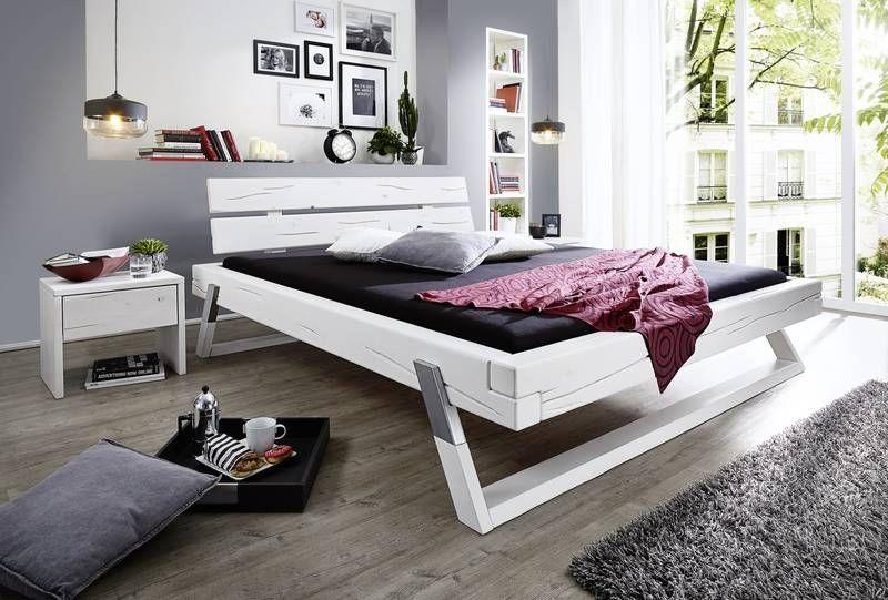 massivholzbett 180x200 weiß einzelbett design