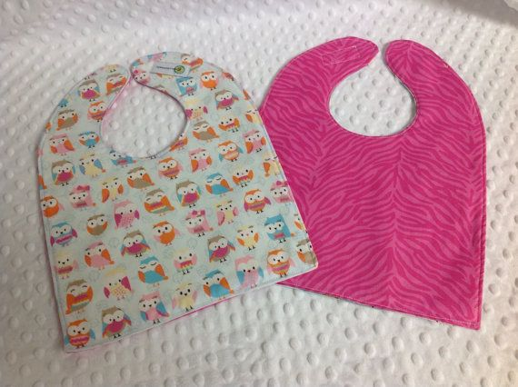High Quality Reversible Fabric Bib with terry by GroovyLittleBaby