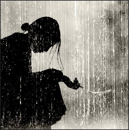 Woman silhouette in the rain | Silhouette pictures, Woman ...
