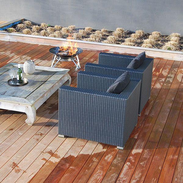 brasero d 39 ambiance en ce mois de janvier sur une belle terrasse en bois r alisation par cote. Black Bedroom Furniture Sets. Home Design Ideas