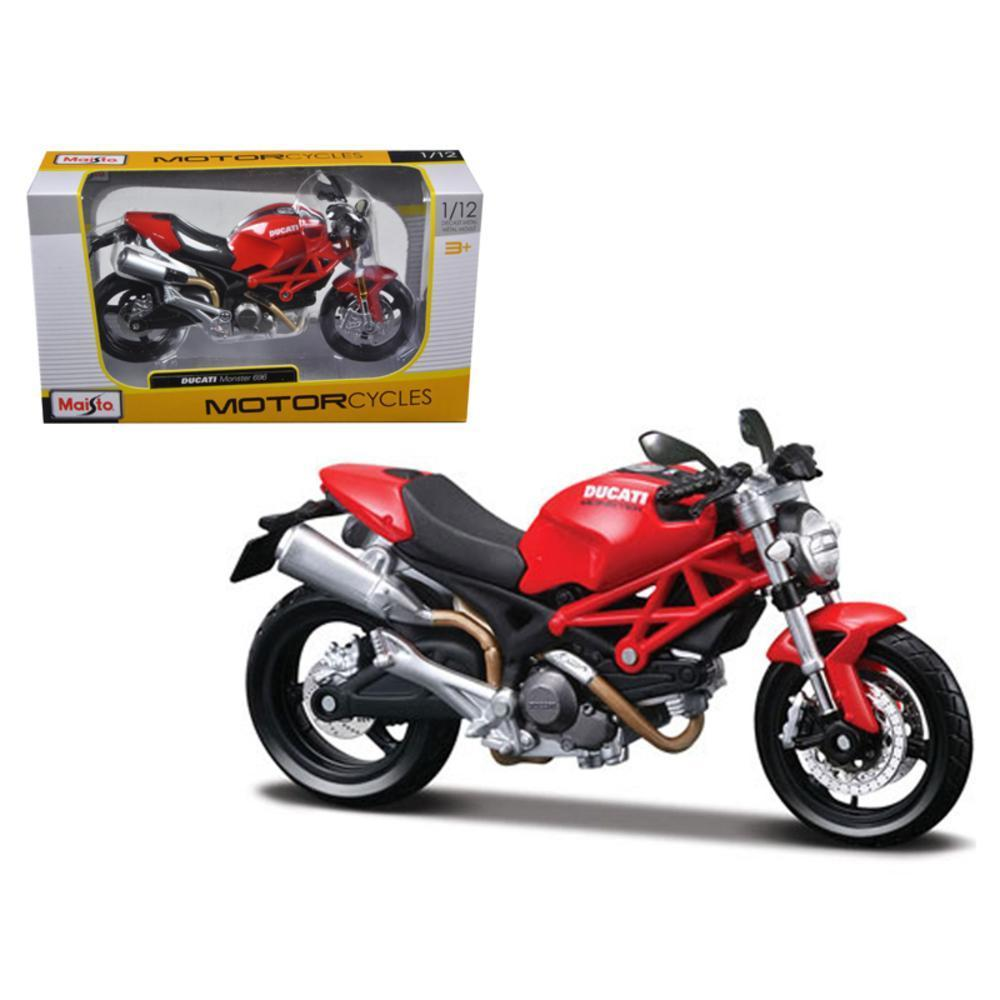 Ducati Monster 696 Red Motorcycle 1 12 Diecast Model By Maisto Ducati Monster Red Motorcycle Monster 696