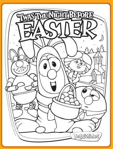 Free Veggie Tales Easter Coloring Page