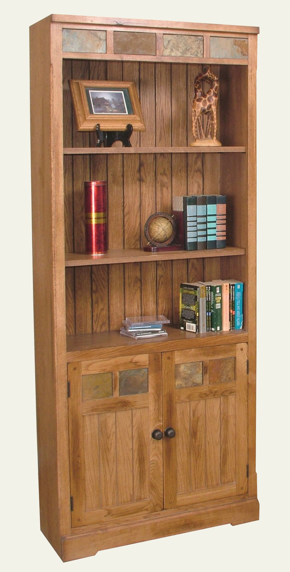 office bookcases with doors. Sunny Designs Sedona Bookcase With Doors In Distressed Oak Office Bookcases