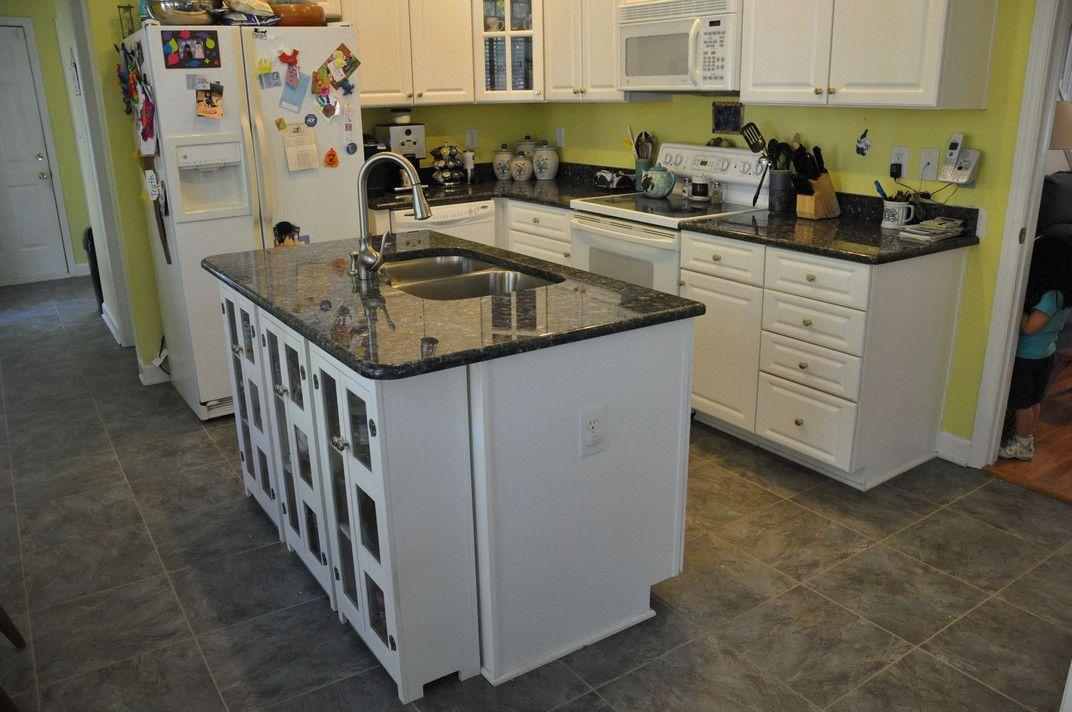 Endearing Blue Pearl Granite Kitchen