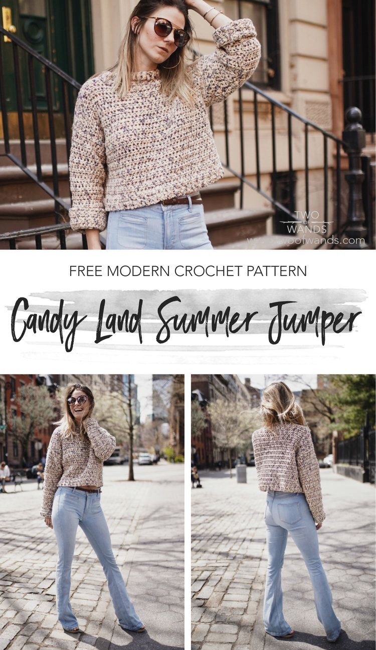Candy Land Summer Jumper | Ameeee | Pinterest | Motivo de ganchillo ...