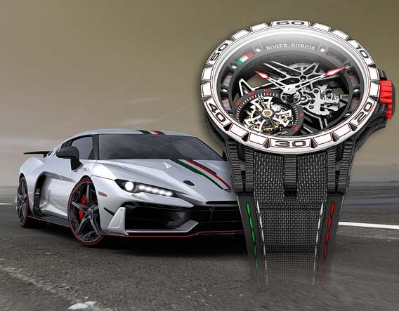 Roger Dubuis Excalibur Italdesign Edition with Italdesign V10 Hypercar - Perpetuelle
