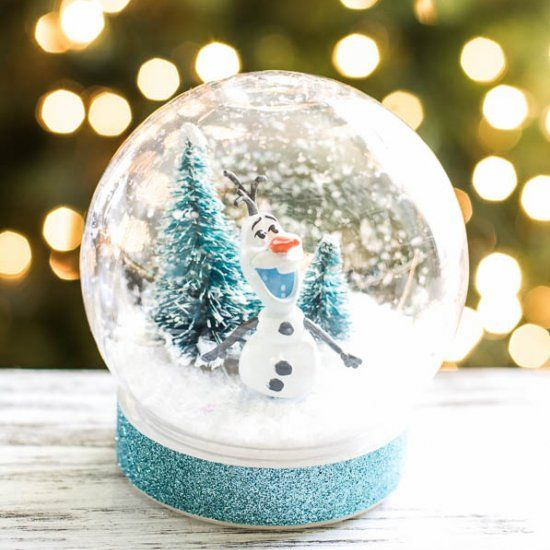 Create An Easy Disney Frozen Olaf Snow Globe With The Kids This