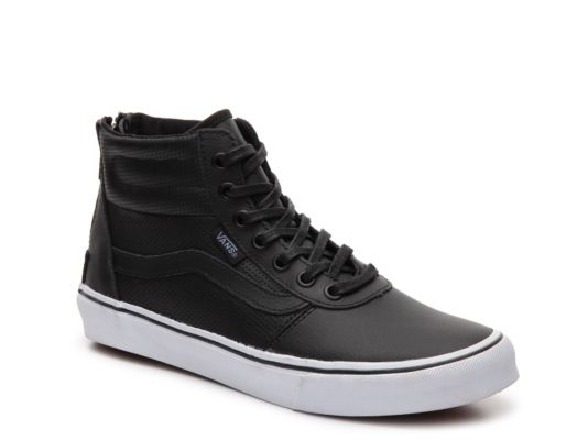 e2419fc27b Women s Vans Milton Hi Leather High-Top Sneaker - - Black
