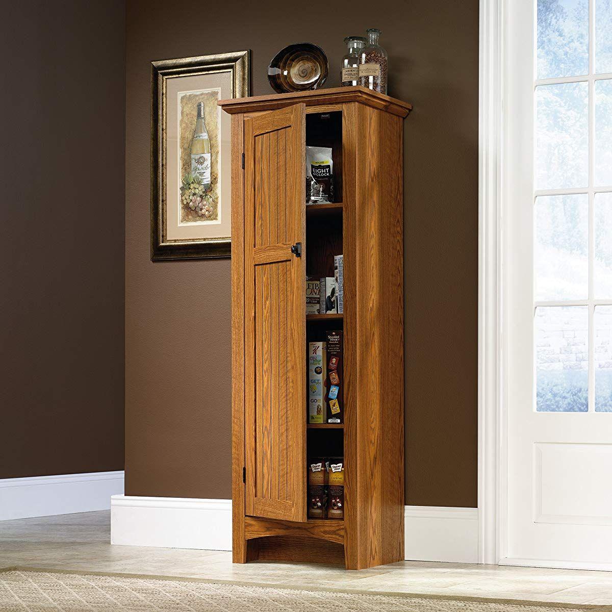 Narrow Cabinet With Doors Oak Kitchen Cupboard Storage Kitchen Pantry Storage Cabinet Kitchen Cabinet Storage