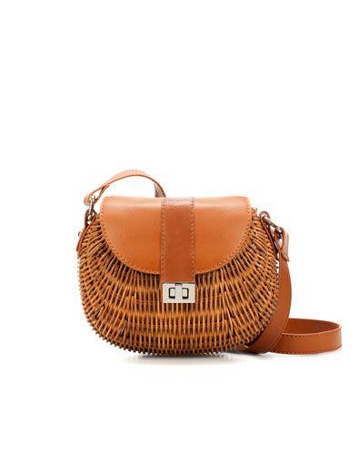 Combined Wicker Handbag Zara Official Website Kids United States Filipiniana