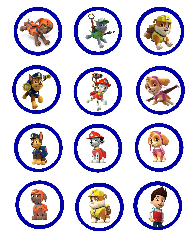 Pa Patrol Cupcake Toppers
