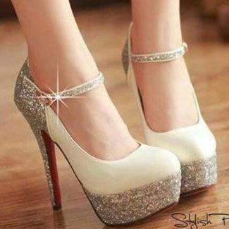 Bridal Shoes Low Heel 2015 Flats Wedges PIcs In Pakistan Mid