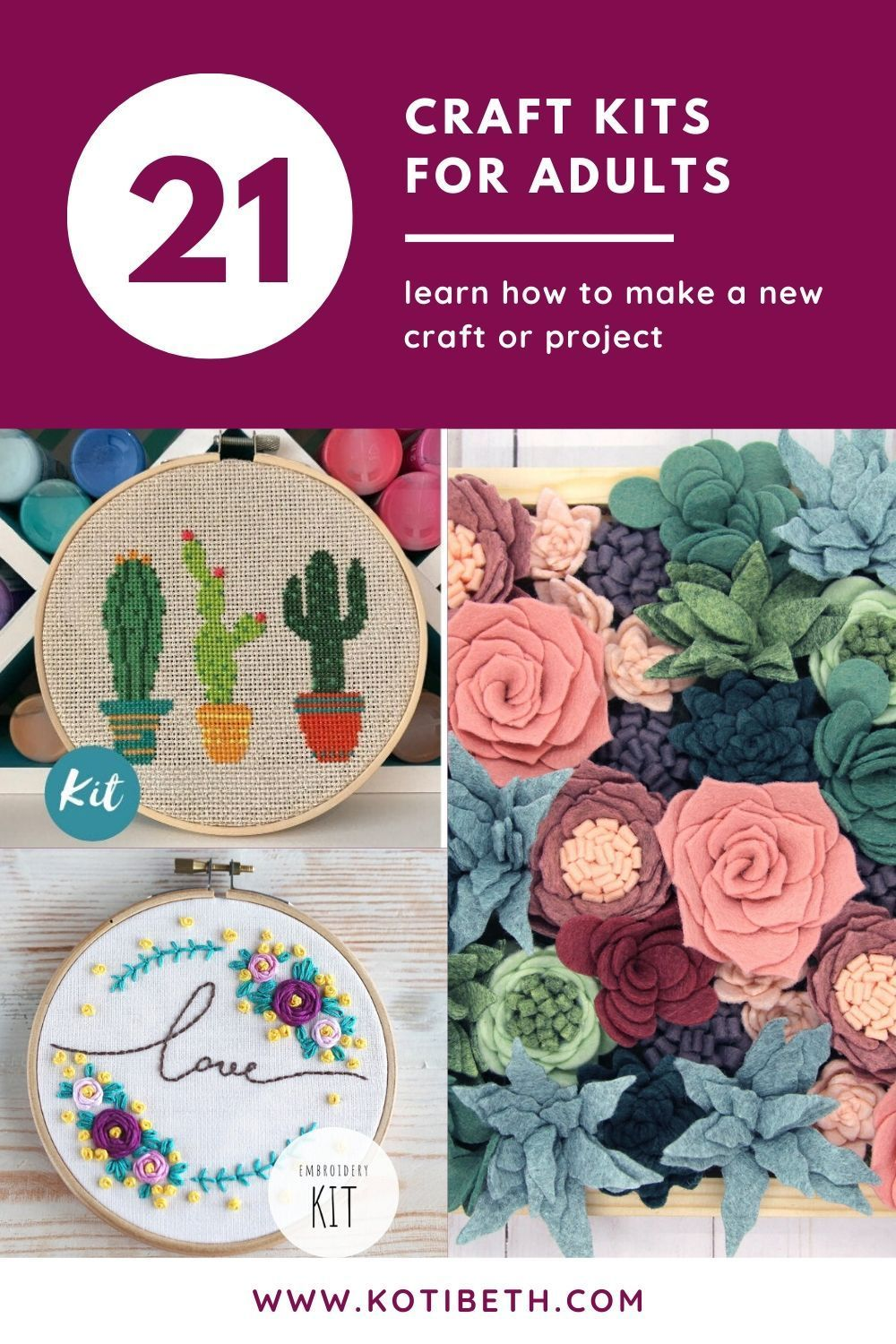 21 Of The Best Craft Kits For Adults In 2020 Monthly Crafts Fun Easy Crafts Crafts To Make And Sell