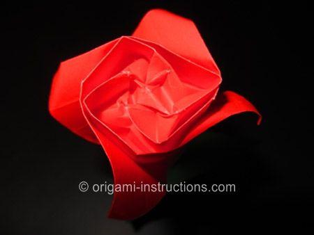 Origami Kawasaki Rose, Part 2 - Origami Flowers Folding Instructions