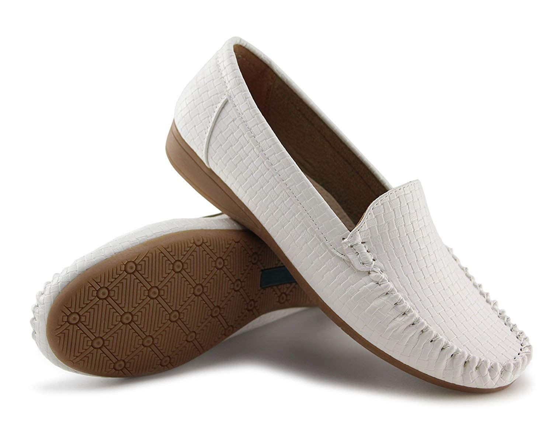 0a79feff5c61a Amazon.com | Jabasic Women's Slip-on Loafers Flat Casual Driving ...
