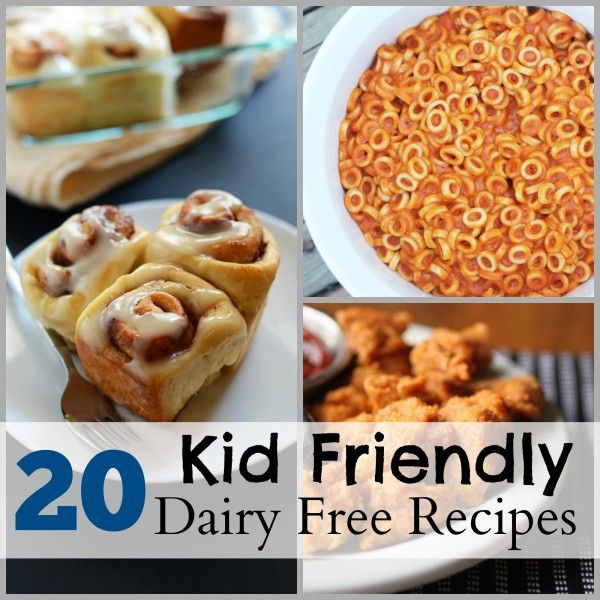 20 Kid Friendly Dairy Free Recipes Dairy Free Pinterest Dairy