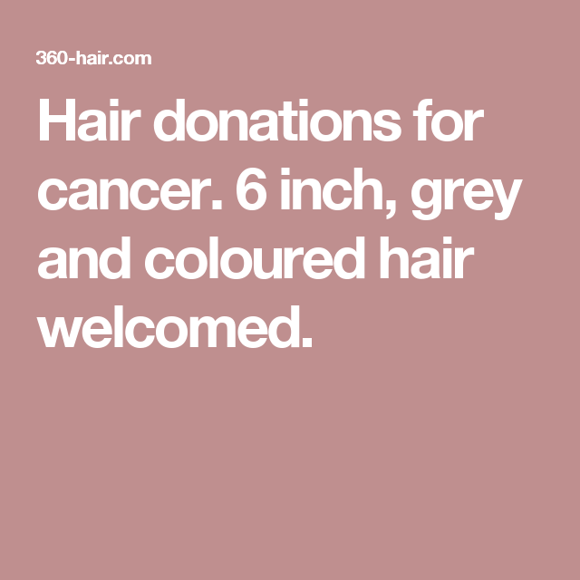 Hair Donations For Cancer 6 Inch Grey And Coloured Hair
